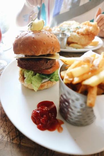 Beyond meat burger à Londres