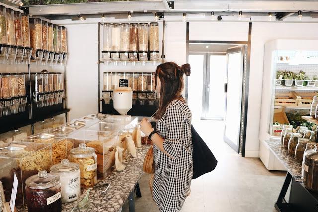 boutique de vrac à Londres